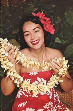 vintage photo, 1950s Hawaii