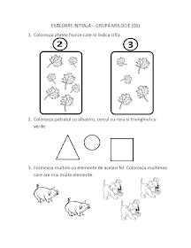 Fise de lucru - gradinita: FISE de Evaluare Initiala grupa MIJLOCIE - DS - DLC - DOS Numbers Preschool, Preschool Worksheets, Preschool Activities, Math 2, Math For Kids, Kindergarten, 1 Decembrie, Felicia, Crafts