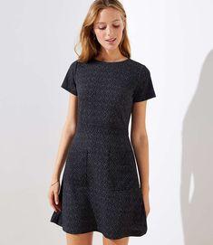 924474bc9abd0 Flecked Pocket Flare Dress | LOFT Fall Dresses, Casual Dresses, Flare  Dress, Loft