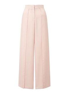 Pantalon coupe large blush fendu sur le devant