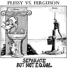 The Supreme Court case, Plessy vs. Ferguson, stated that being separate but equal was okay. Later that case was overturned in 1954 with the Supreme Court case, Brown vs. Board of Education. This case was important because it brought segregation into the US, which left a negative impact in the American society.