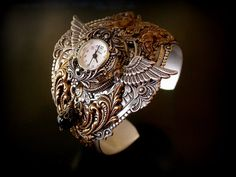 Steampunk Watch Cuff  Gothic Women Jewelry  Steam Punk Accessories