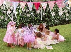 Little girls tea party  - banner