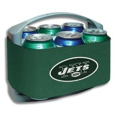 Need the perfect gift for the fan who loves to tailgate? How about this New York Jets six-pack cooler?