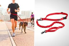 Genius! Hands-free dog leash