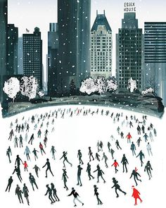 HAPPY HOLIDAYS ! Thank you for following me this year and wishing you an amazing 2018 ! This festive Illustration from my latest book, New York Sketchbook, shows the Wollman Ice rink in Central Park. I skated here on my first trip to NY many Christmases ago so it was fun to recreate the scene in a slightly whimsical watercolour/Lowry style. If you go to Laurence King.com you will find my illustrated suggestions of things to do in New York, Paris and London during the holiday season