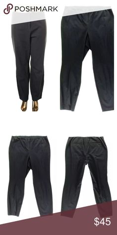 🆕 Listing! Comfort Waist Ponte Dress Pants! NEW! Hidden elastic band all the way around the entire waist band. Charcoal gray. Alfani Pants Trousers