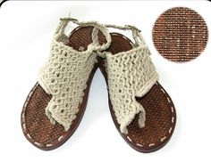these handmade Linen Macrame Sandals are awesome! I WANT