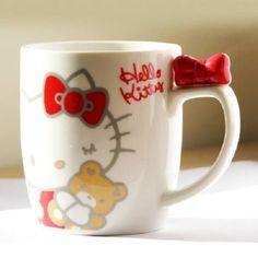 Hello Kitty Ribbon Mug Sanrio Hello Kitty, Hello Kitty My Melody, Hello Kitty Items, Hello Kitty Stuff, Hello Kitty Kitchen, Japanese Toys, Hello Kitty Collection, Cute Mugs, Tea Party