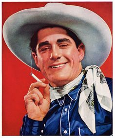Portrait of Ted Yokum, Rodeo Star, taken for a Camel Cigarette ad. 1938