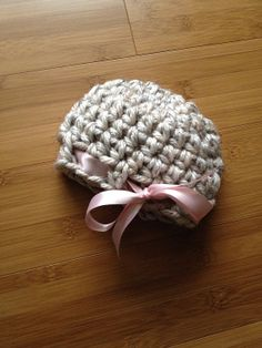 Newborn infant baby girl crochet hat by LjsCrochetedTreasure, $13.00