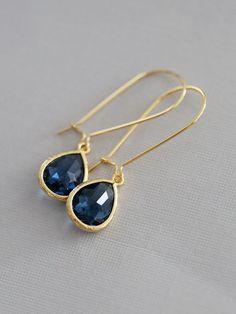 Sapphire Earrings,Jewelry,Pendant, Gold Earrings,Diamond Earrings,Gold Earrings, Gold Faceted Earring,Wedding,Bridal, Bridesmaid Gift