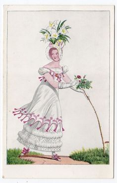 100% True Antique Lithograph 1911 Woman Antiques Decorative Arts Pink Roses & Calendar ~ Very Nice Gift!