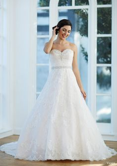 venus bridal fall 2015 venus collection ve8198 strapless lace ball gown beaded sweetheart neckline