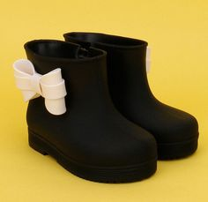 New kids boots girls shoes cute bowknot girls rain boots girls non-slip rain boots kids waterproof rain boots kids shoes girls