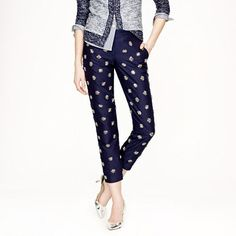 J.Crew - Collection caf capri in beaded medallion