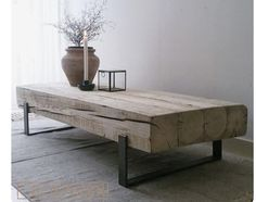 Coffee table 'Solid' is an industrial coffee table with a combination of old, .,Coffee table 'Solid' is an industrial coffee table with a combination of old, naturally weathered wood and a steel frame. These tables are handmade. Decor, Furniture Design, Diy Furniture, Furniture, Interior, Home Furniture, Home Decor, House Interior, Coffee Table