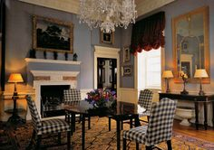 Gingham and gilt...Spencer House, London...From...The Brimstone Butterfly...  http://thebrimstonebutterfly.blogspot.com/#
