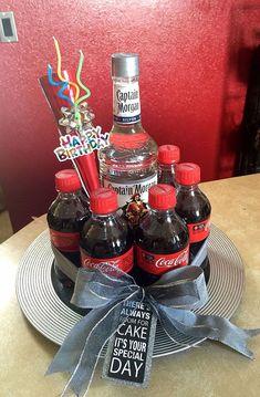 Captain and Coke Cake for my nephews birthday. Captain and Coke Cake for my nephews birthday. Captain and Coke Cake for my nephews birthday. Captain and Coke Cake for my nephews birthday. 21st Birthday Decorations, 21st Birthday Cakes, 30th Birthday, Alcohol Cake, Alcohol Gifts, Coke Cake, Diy Cadeau Noel, Birthday Basket, Raffle Baskets