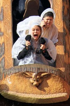 Sofia Vergara, while filming Modern Family on Splash Mountain. I'm going to hold my shoes next time, too.