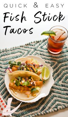 Looking for easy dinner recipes for your family? Try these crunchy fish stick tacos with chipotle sauce!