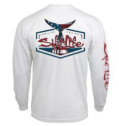 277577fd59 Salt Life American Tail Long Sleeve Pocket T-shirt - Trenz Shirt Company  Fishing Shirts