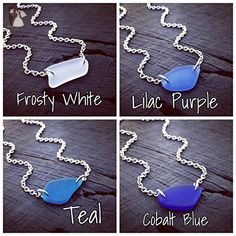 Sea Glass Pendant Choker Necklace - Pick Your Color | Sea Glass Jewelry | Sea Glass Lover Gift | Beach Lover Gift | Nautical Jewelry Gift - Wedding bracelets (*Amazon Partner-Link)