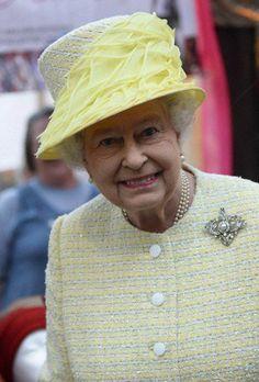 Queen Elizabeth, June 24, 2014 in Angela Kelly   Royal Hats