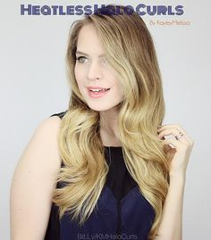 Never seen this method of heatless hairstyle before. Its so easy and gives really beautiful results Kayley Melissa, Heatless Hairstyles, Gorgeous Hair, Beautiful, Curls, Hair Makeup, Braids, Hair Beauty, Skin Care