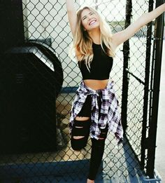 Edgy fashion ideaswomens fashion inspiration cute edgy outfits, edgy summer outfits, hipster outfits for Edgy Summer Outfits, Cute Edgy Outfits, Grunge Outfits, Outfits For Teens, Fall Outfits, Casual Outfits, Bad Girl Outfits, Flannel Outfits, Flannel Shirts