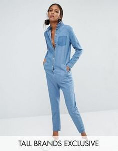 Daisy Street Tall Boilersuit With Patchwork Pocket