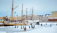 Helsinki ist auch im Winter aktiv und lebendig. Es ist wahrscheinlich die einzige Landeshauptstadt der Welt, wo Sie mitten im Stadtzentrum mit einem Langläufer kollidieren könnten. #Finnland #Helsinki #Winter  http://www.visithelsinki.fi/de/sehen-und-erleben/aktivitaten-in-helsinki/helsinki-im-winter