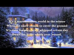 Dean Martin - A Marshmallow World With Lyrics   Christmas song sung by Dean Martin.