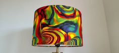 NEW HANDMADE LAMPSHADE psychedelic lampshade red yellow green glamp / pendant #Handmade #Contemporary