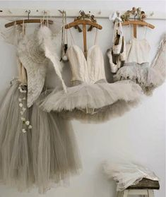 tulle ballet dresses on a hanger - for more dress on a hanger images follow my board by Anthi Leoni