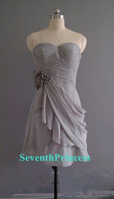 Grey braidsmaid dress