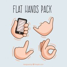 Image result for hands pose illustration vector flat catoon