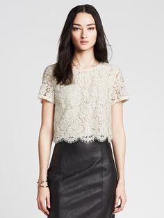 Find banana republic crop top at ShopStyle. Shop the latest collection of banana republic crop top from the most popular stores - all in one place. Cropped Tops, Lace Crop Tops, Fall Winter Outfits, Day Dresses, Blouse Designs, Autumn Fashion, Fashion Dresses, Clothes For Women, Casual Clothes