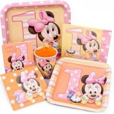 ♚ ♛ ♡ Kit descartables  - Cumple Temático Baby Minnie ♡ ♛ ♚ Conseguilos en www.unabuenafiesta.com.ar