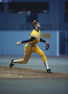 Kent Tekulve - Pittsburgh Pirates.  He dislocated his elbow with every sidearm pitch  lol