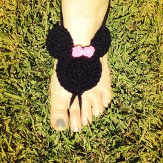 Disney Minnie Mouse styled Crocheted Barefoot by HarvesterProducts, $20.00