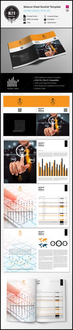 Balance Sheet Booklet Template US Letter Booklet template - balance sheet templates