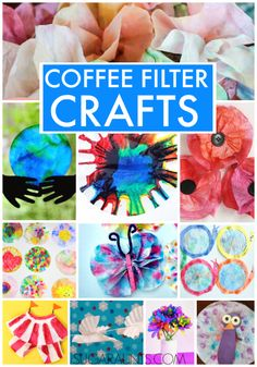 Coffee filter craft ideas for kids!
