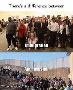 There's a difference between immigration & invasion