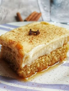 Sweets Recipes, Cake Recipes, Desserts, Greek Sweets, Banana Bread, Recipies, Cheesecake, Food And Drink, Tasty
