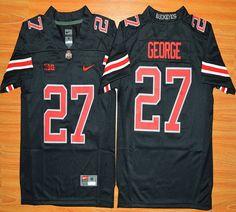 Youth Ohio State Buckeyes Eddie George 27 NCAA Football Jersey - Blackout
