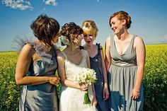 Non-Matching Bridesmaid's Dresses