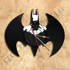 Wall Clock Batman Clock Vinyl Record Clock via GeoArtCrafts. Click on the image to see more!