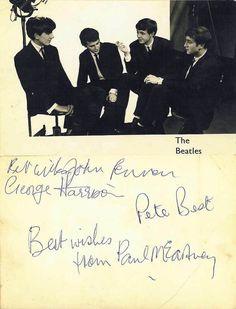 George Harrison, Pete Best, Paul McCartney and John Lennon.