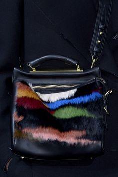 phillip-lim-fall-2013-colored-fur-bag